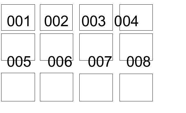 2b274f339 001 002 003 004 nomor meja