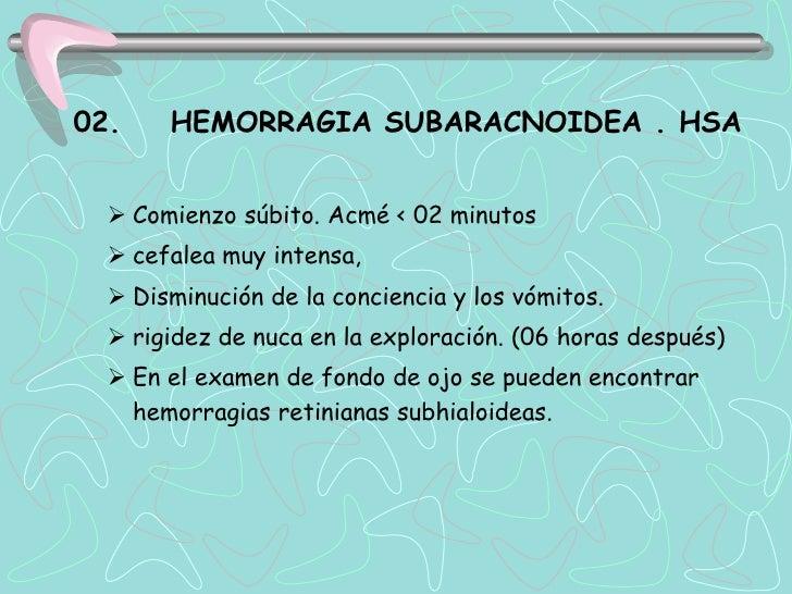 Complicaciones de la Hemorragia Subaracnoidea