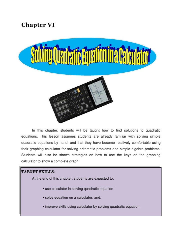 Chapter VI<br />1049274248412<br />                  <br />In this chapter, students will be taught how to find solutions ...