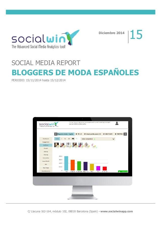 C/ Llacuna 162-164, módulo 102, 08018 Barcelona (Spain) - www.socialwinapp.com Diciembre 2...