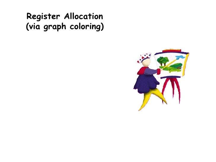 Register Allocation (via graph coloring)