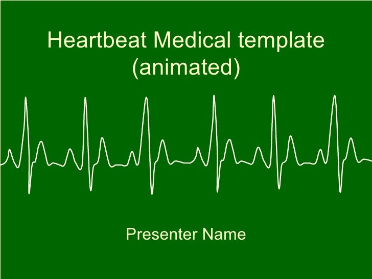 Heartbeat Medical template (animated) Presenter Name