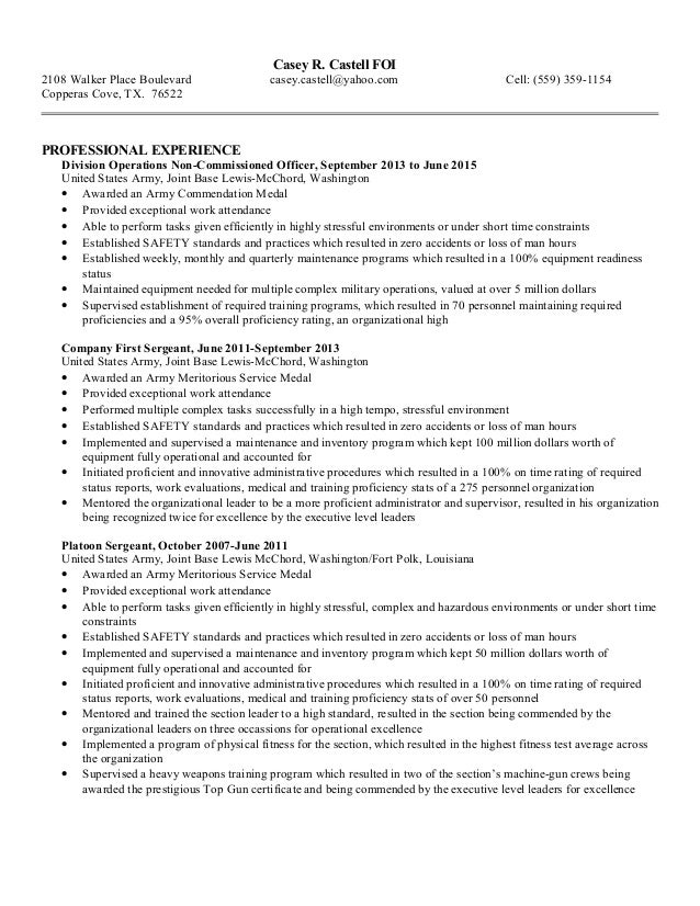 resume bullet format