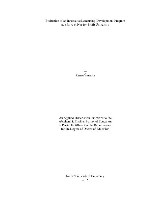 Dissertation abstracts educational management