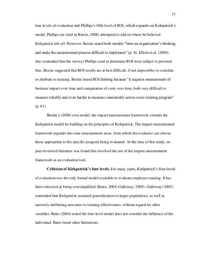 Program evaluation dissertation m tech dissertation