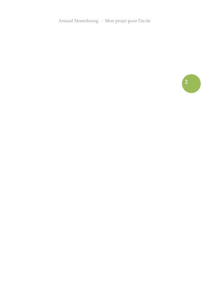 Arnaud Montebourg - Mon projet pour l'école Slide 2