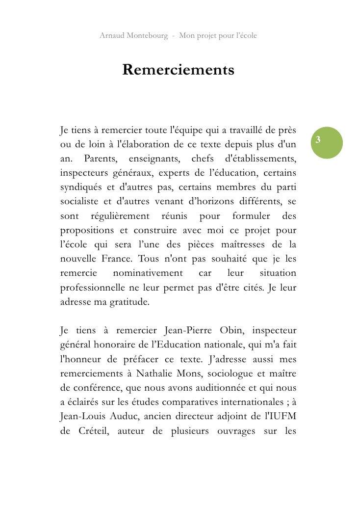 Arnaud Montebourg - Mon projet pour l'école Slide 3