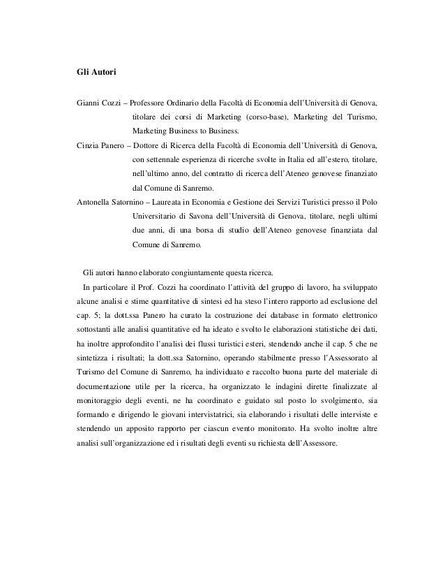 Gli Autori Gianni Cozzi – Professore Ordinario della Facoltà di Economia dell'Università di Genova, titolare dei corsi di ...