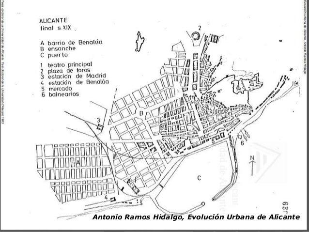Estructura y morfolog a urbana de alicante - Alicante urbanismo ...