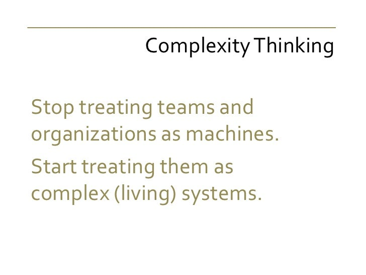 Management 3.0 - Complexity Thinking Slide 2