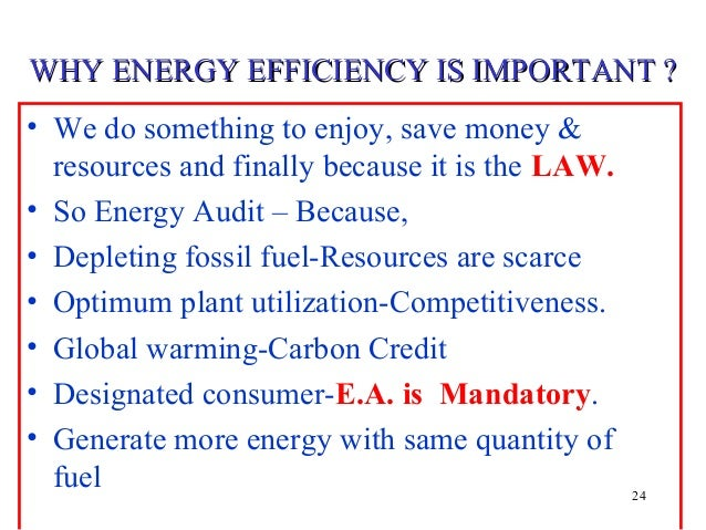 why is energy conservation important