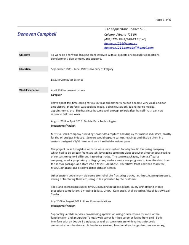 Detailed Cv Format For Cv Resume Detailed Resume Example. Detailed