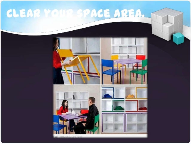 Clear your space area.
