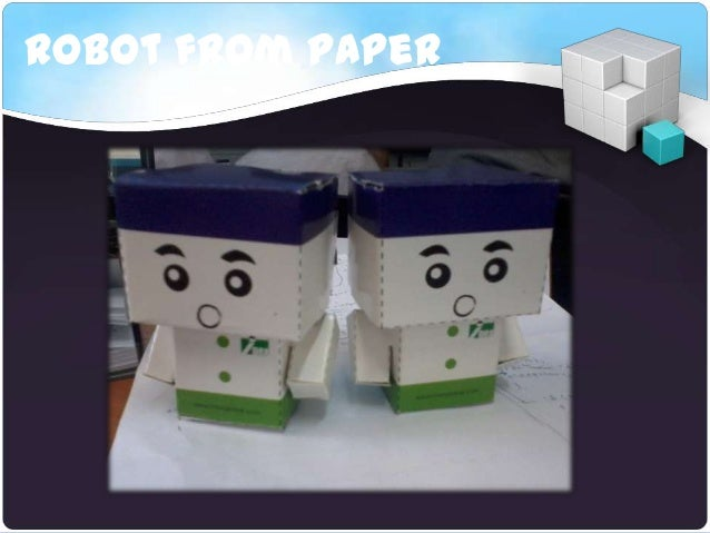 Robot from paper