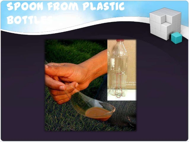 Spoon from plasticbottles