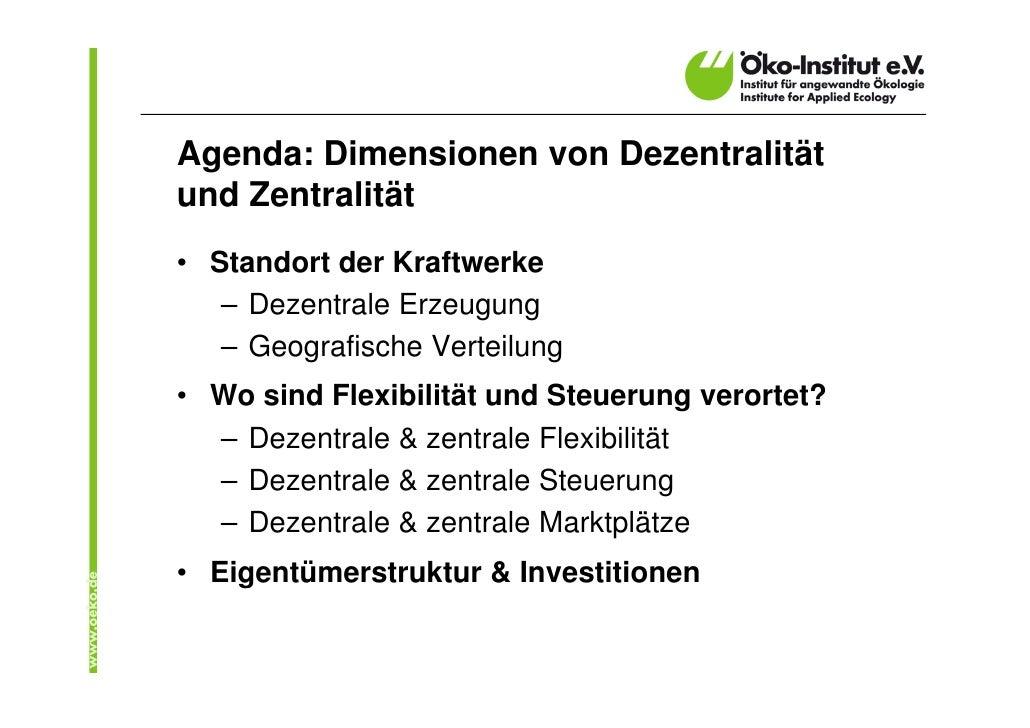 Dezentralisierung der Stromversorgung: Was ist darunter zu verstehen? Slide 2