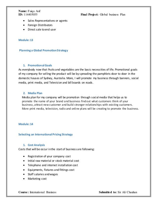 Global Strategic Planning