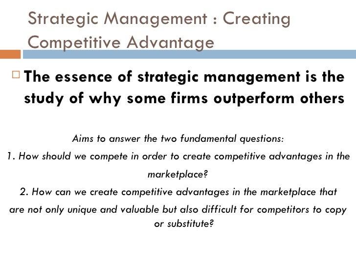 essence of strategic planning