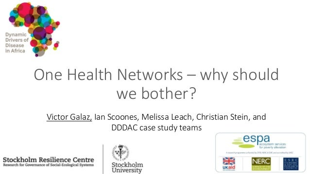 One Health Networks – why should we bother? Victor Galaz, Ian Scoones, Melissa Leach, Christian Stein, and DDDAC case stud...