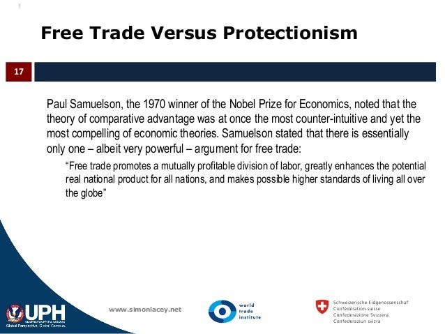 an explanation of the protectionism versus free trade argument Definition of protectionism and tariff wars  about the costs and benefits of free trade versus  optimal tariff argument that states that for a.