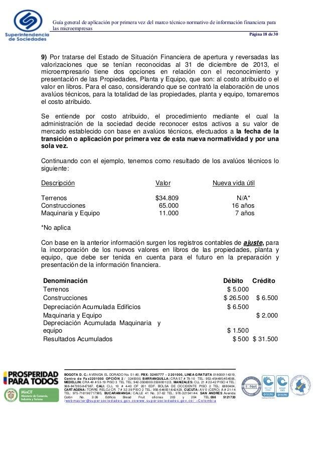 Guía general de aplicación por primera vez del marco técnico normativ…