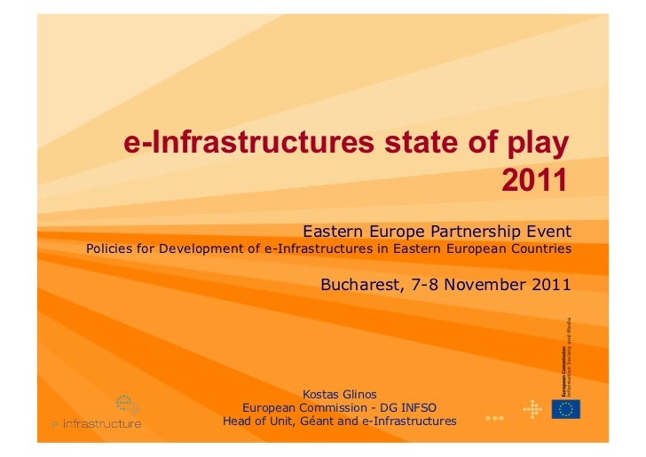 e-Infrastructures state of play                               2011                                   Eastern Europe Partne...