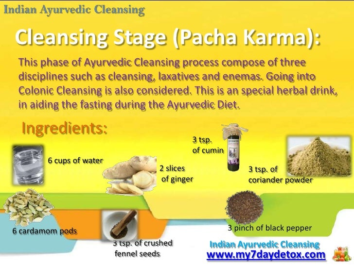 My 7 Day Detox The Indian Ayurvedic Cleansing