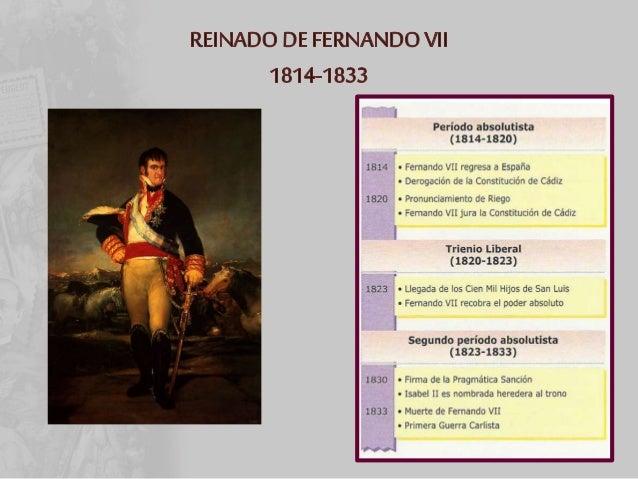 • Se deroga la Constitución de 1812 --- Absolutismo monárquico • Pronunciamientos militares : Torrijos • 1829: PROBLEMA SU...