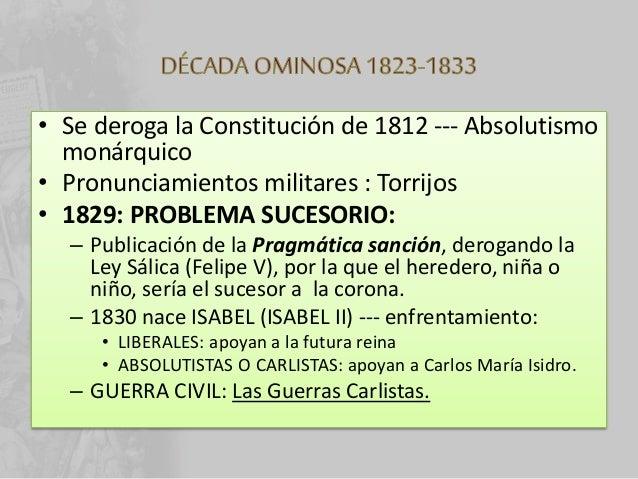 • De su madre MARIA CRISTINA – Primera guerra carlista – Convenio de Vergara: se reconocen los fueros vascos y el navarro ...