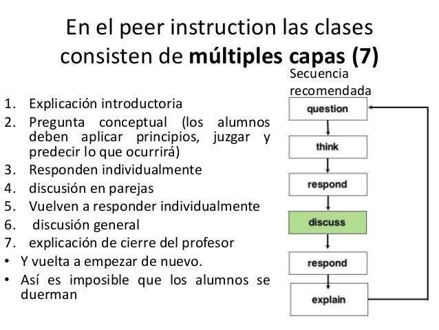 Requerimientos del peer instruction • Necesitamos 10- 12 preguntas conceptuales MCQ o de otro tipo para cada hora de clase...