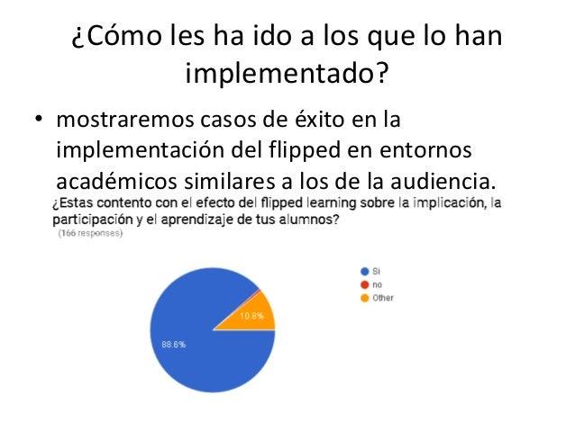 ¿Cómo les ha ido a los que lo han implementado? • mostraremos casos de éxito en la implementación del flipped en entornos ...