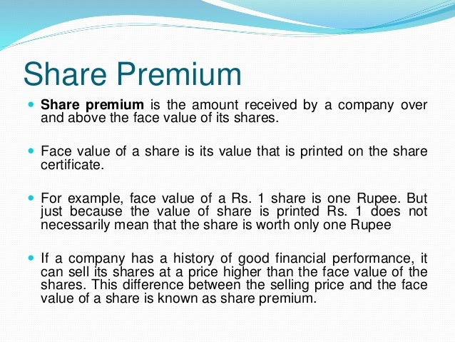 001 share premium and bonus shares – Example of Share Certificate