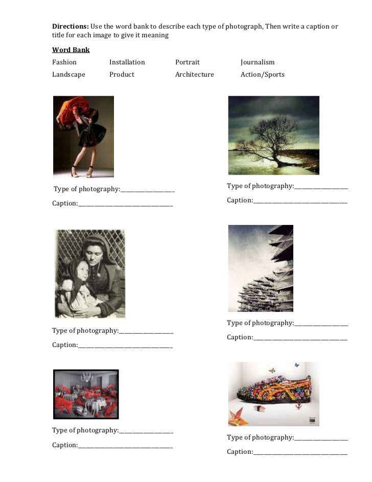 Photography Worksheets wonderful image collections