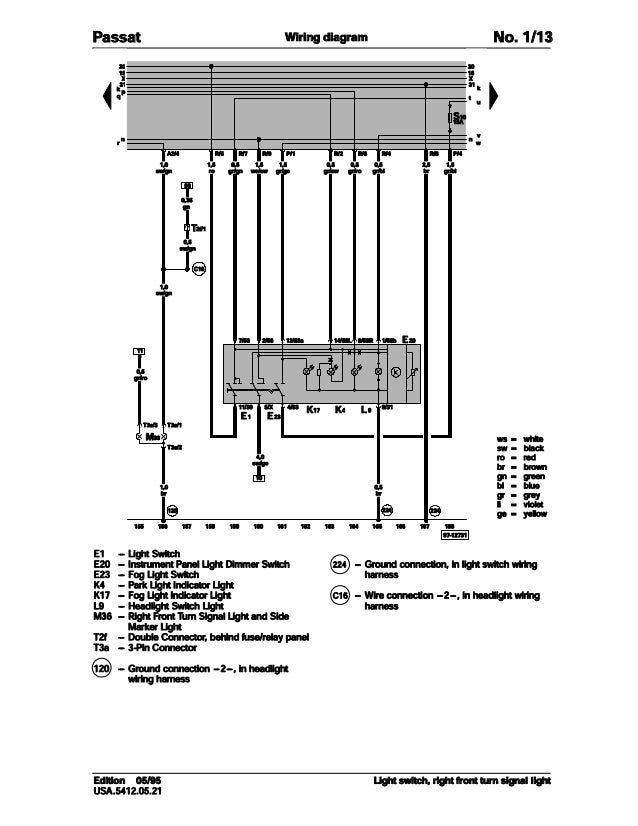 001 volkswagen passat official factory repair manual wiring diagrams rh slideshare net 2001 Volkswagen Passat Owner's Manual Diagram 2001 Passat Starter Circuit Diagram
