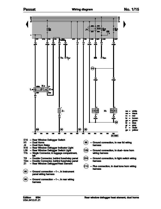 Volkswagen Passat L Wiring Diagram Manual : Volkswagen passat official factory repair manual