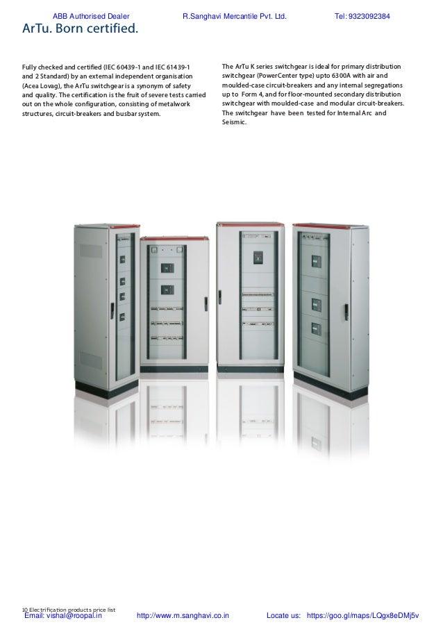 ABB Switchgear Price list002