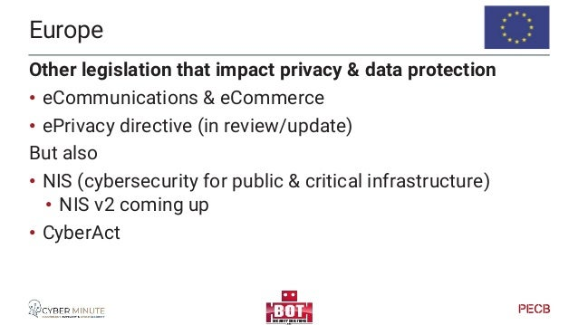 New and updated Privacy Legislations Keep an eye on…
