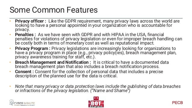 North America - Canada CCPA – Consumer Privacy Protection Act • Enhancement to PIPEDA • Privacy and Data Protection Tribun...