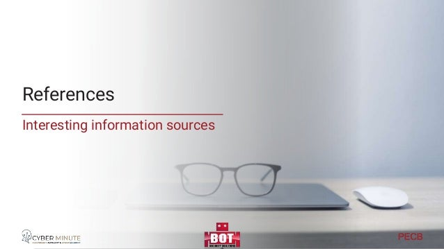 Reference material Collateral references and additional info posted on • https://www.linkedin.com/pulse/pecb-webinar-data-...
