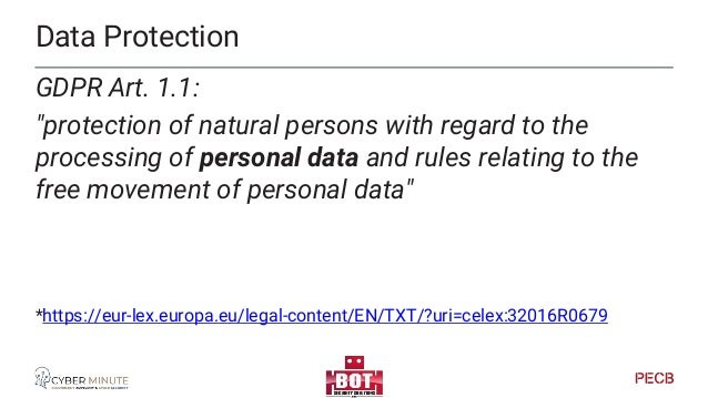 GDPR and privacy GDPR itself does not mention privacy… except a footnote on Directive 2002/58/EC, the eCommunications dire...