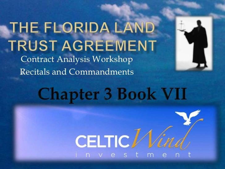 Contract Analysis WorkshopRecitals and Commandments