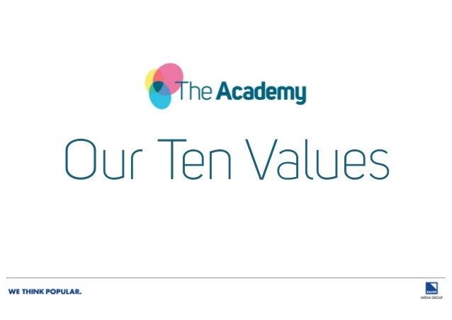 Our Ten Values