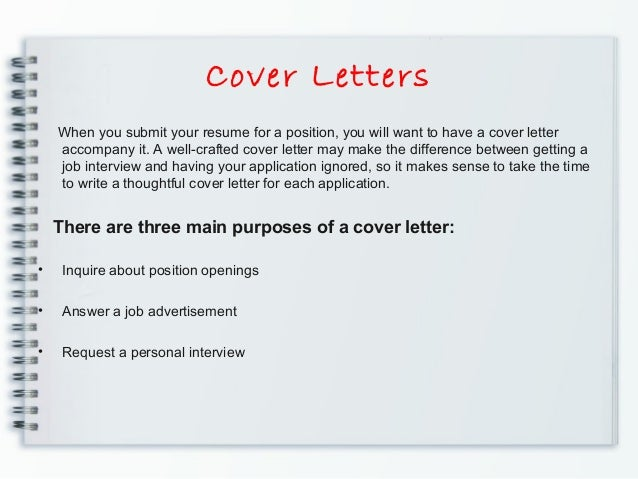 cover letter to accompany resumes