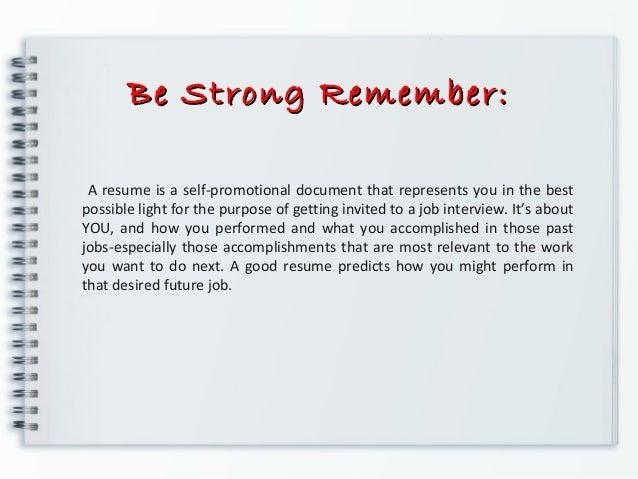 resume self description