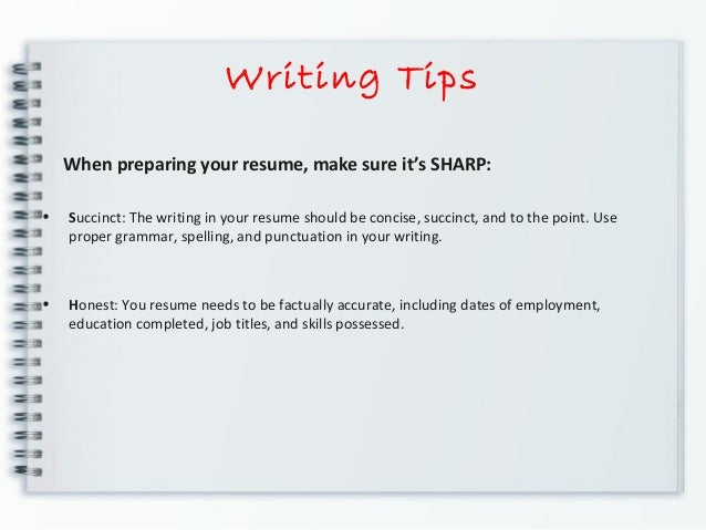 8 writing tips when preparing your resume