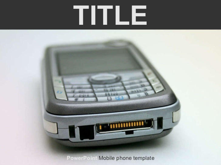 TITLE PowerPoint  Mobile phone template