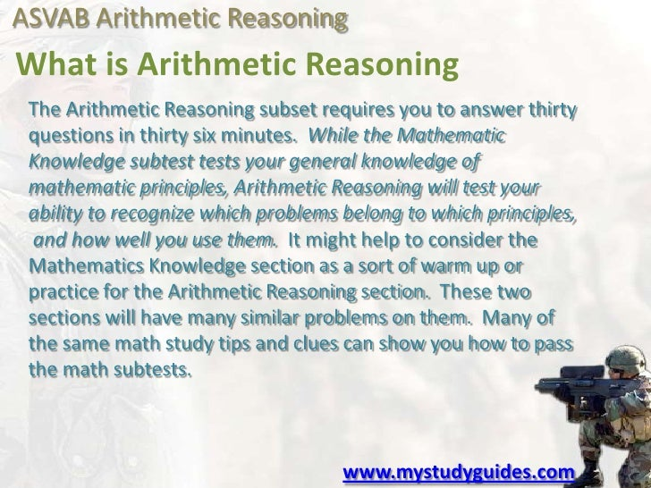 ASVAB asvab arithmetic reasoning