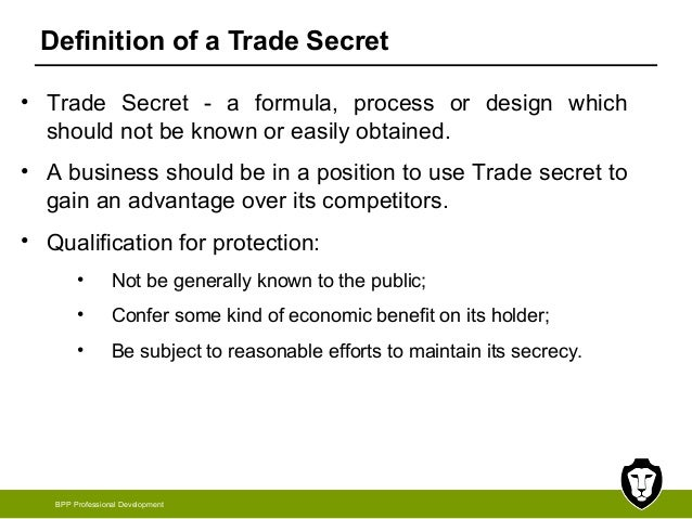 confidential information amp trade secrets law