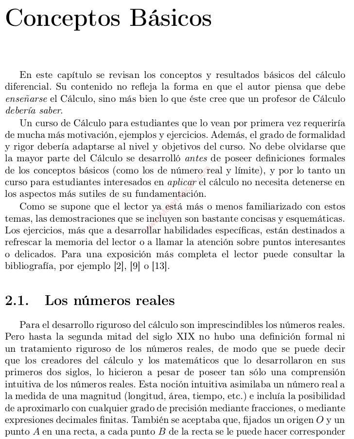 Capítulo 2Conceptos Básicos    En este capítulo se revisan los conceptos y resultados básicos del cálculodiferencial. Su c...