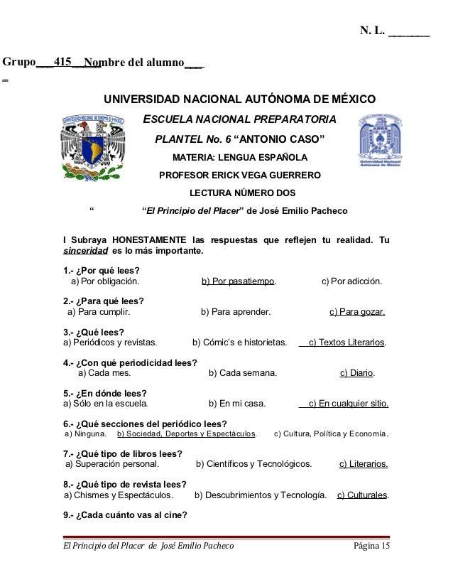N. L. _______Grupo___415_____             Nombre del alumno____                     UNIVERSIDAD NACIONAL AUTÓNOMA DE MÉXIC...